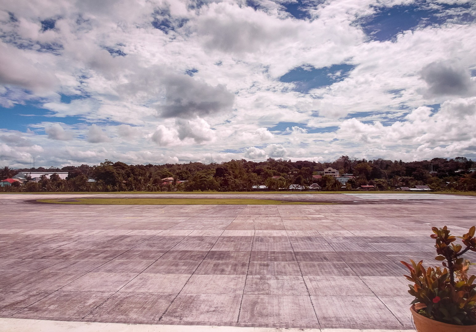 Airstrip at the airport in Tagbilaran, Philippines