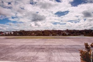 Airstrip at the airport in Tagbilaran, Philippines