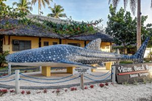Monument of whale sharks in Donsol, Philippines