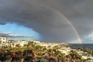 Rainbow over Sharm El Sheikh.