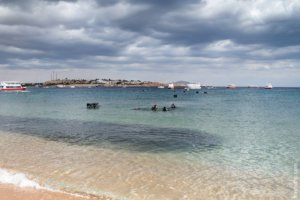 Diving on the beach of Naama Bay, Sharm El Sheikh